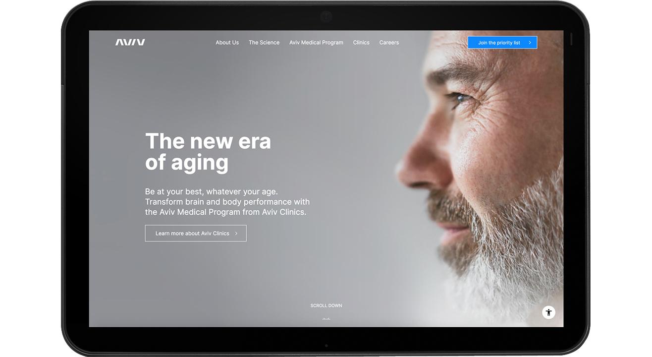 Aviv Clinics website copywriting