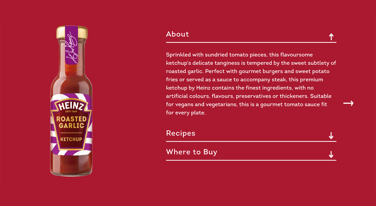 Heinz Roasted Garlic Ketchup product description