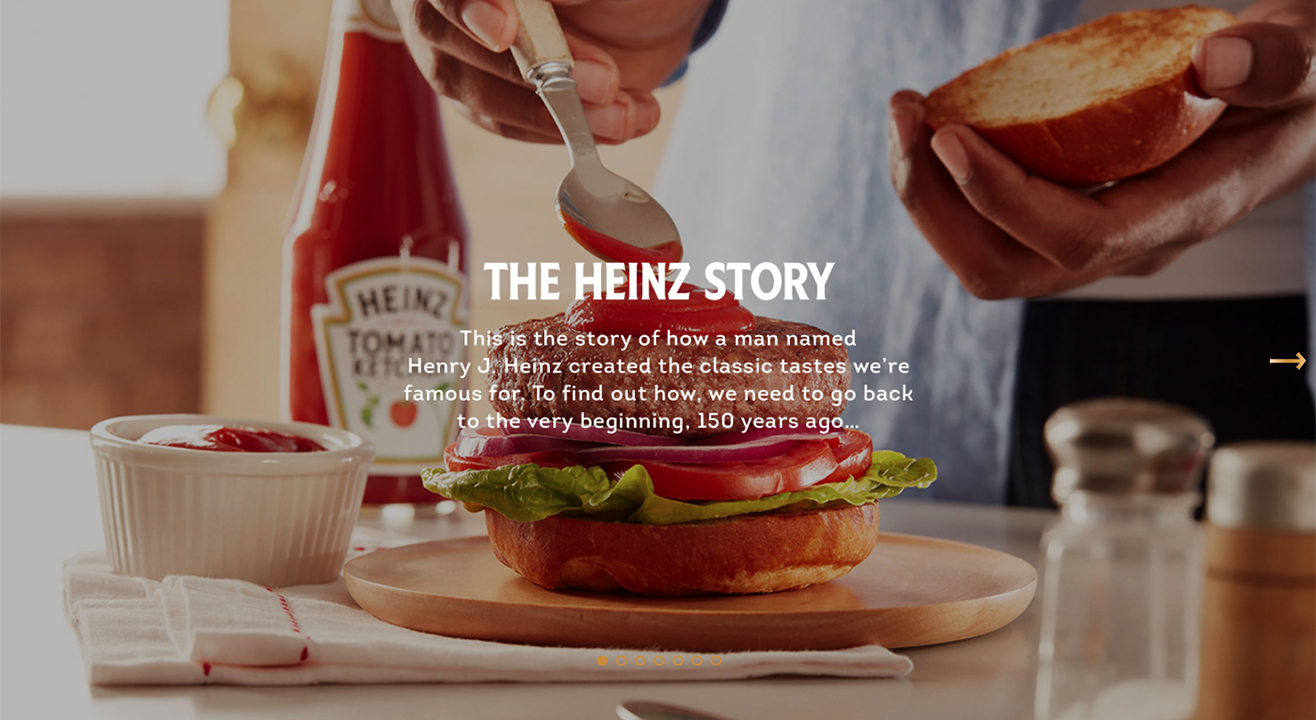 Heinz history website copywriting