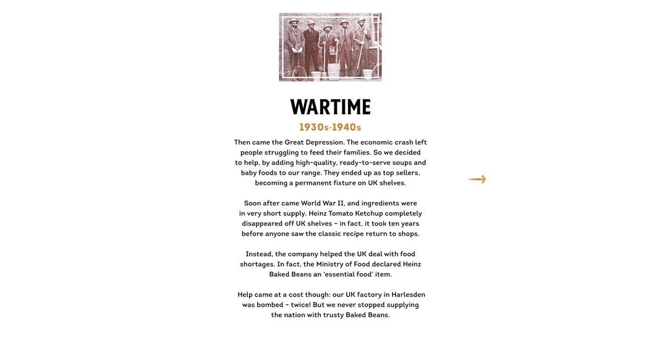 Heinz wartime history website copywriting