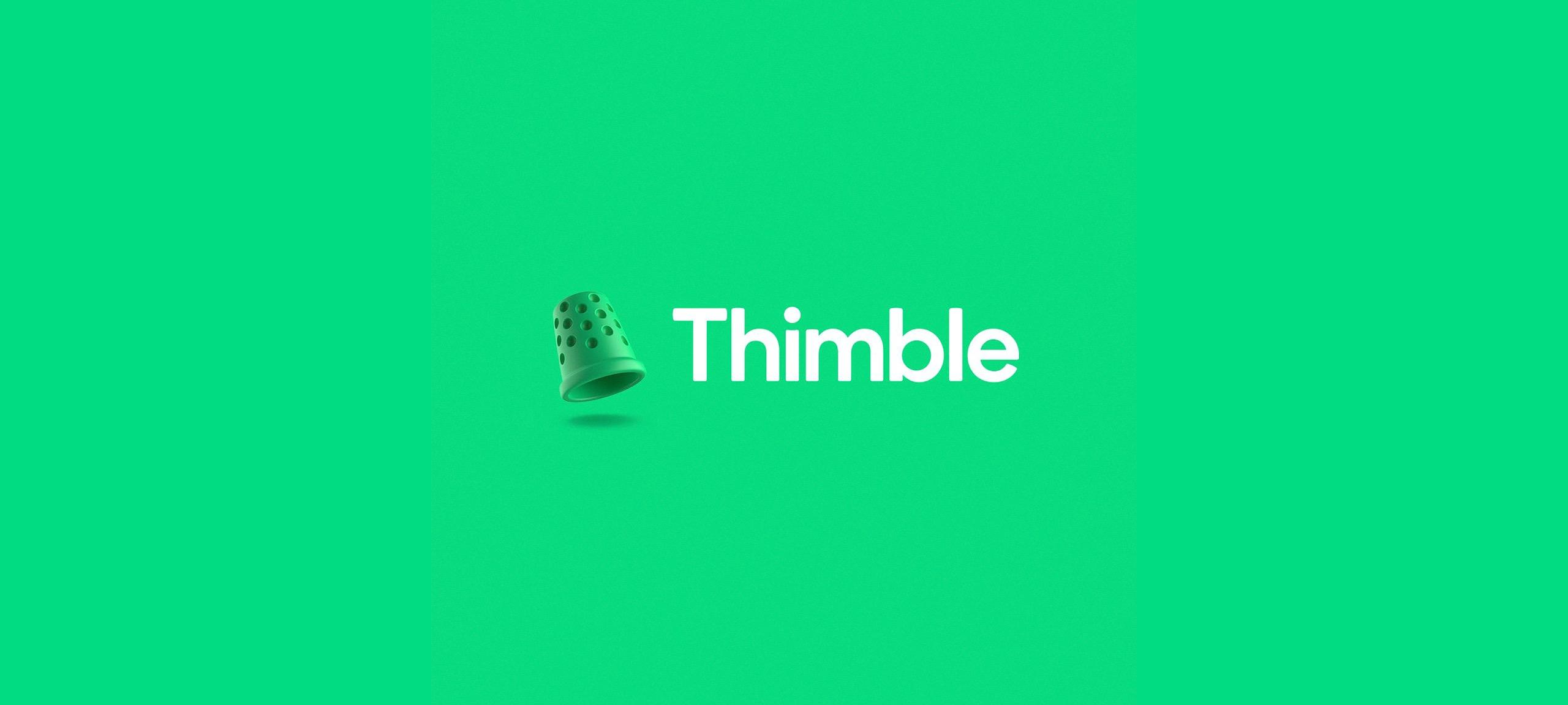 Thimble logo hero image