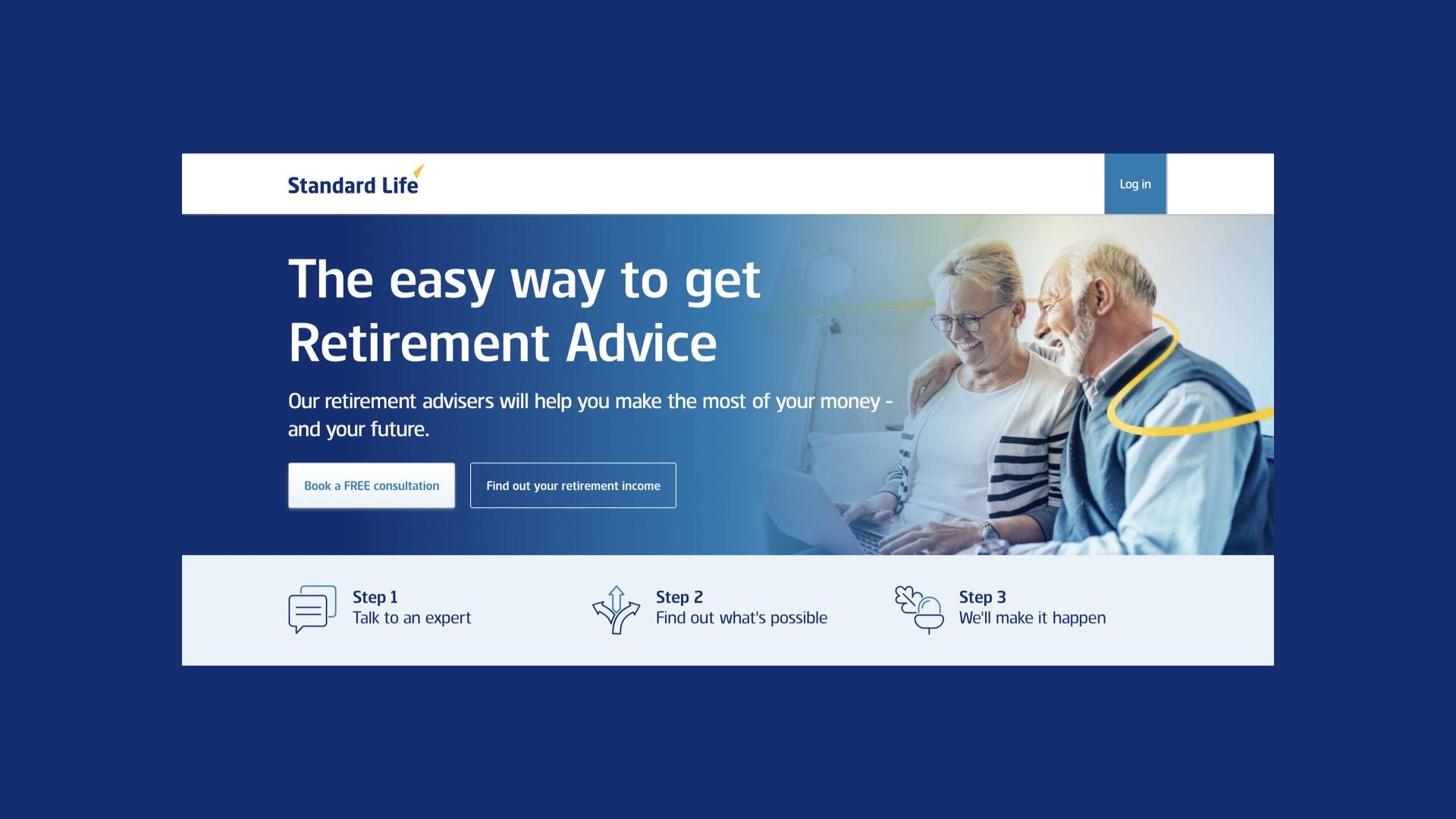Standard Life advice homepage